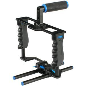 dlc DL-GB3 HDSLR Camera Gear Box Video Cage Stabilization Rig with Top Handle and 15mm Rods