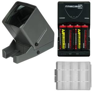 DLC Medalight 35mm Film Slide and Negative Viewer with Batteries and Charger Kit