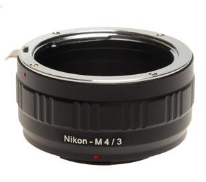 dlc Olympus & Panasonic Micro 4/3 Digital Camera to Nikon Lens Mount Adapter