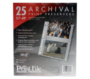 Print File 25 5x7 - 4 Archival Print Preservers Pages