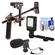DLC HD-DSLR Camera Video Rig Shoulder Brace Stabilizer with LED Video Light + Microphone + Cleaning Kit