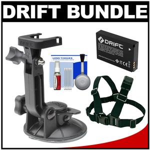 Drift Innovation Suction Cup Mount with Shoulder Mount and Battery and Accessory Kit