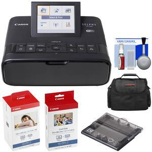 Canon SELPHY CP1300 Wi-Fi Wireless Compact Photo Printer - Black - with KC-36IP and KP-108IN Color Ink Paper Set + PCC-CP400 Card Size Cassette + Kit
