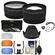 55mm Essentials Bundle with Tele/Wide-Angle Lenses + 3 UV/CPL/ND8 Filters + Lens Hood + 4 Pop-Up Diffusers + Kit