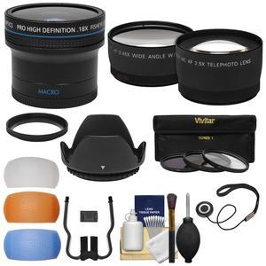 49mm Essentials Bundle with Fisheye + Tele/Wide-Angle Lenses + 3 Filters + Lens Hood + 3 Pop-Up Diffusers + Kit