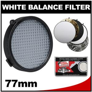 ExpoDisc 2.0 77mm White Balance Filter with 5-in-1 Collapsible Reflector Disk + Cleaning Cloth