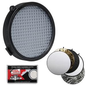 ExpoDisc 2.0 82mm White Balance Filter with 5-in-1 Collapsible Reflector Disk + Cleaning Cloth