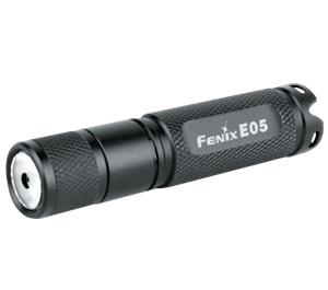 Fenix E05 LED Waterproof Mini Torch Flashlight (Black)