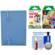 Fujifilm Instax Mini Accordion Photo Album (Blue) with 20 Twin & 10 Rainbow Prints + Cleaning Kit