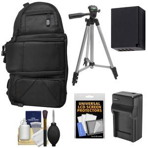 Fujifilm 100D Digital Camera Travel Sling Backpack Case with NP-W126 Battery and Charger + Tripod + Kit