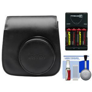 Fujifilm Groovy Camera Case for Instax Mini 8 - Black - with - 4 - Batteries and Charger + Accessory Kit