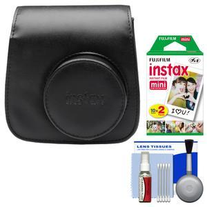Fujifilm Groovy Camera Case for Instax Mini 8-Black-with 20 Twin Prints and Cleaning Kit