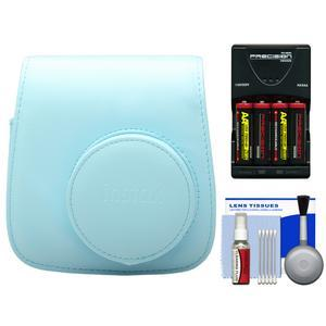Fujifilm Groovy Camera Case for Instax Mini 8 - Blue - with - 4 - Batteries and Charger + Accessory Kit