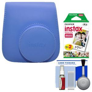 Fujifilm Groovy Camera Case for Instax Mini 9 - Cobalt Blue - with 20 Twin Prints + Cleaning Kit