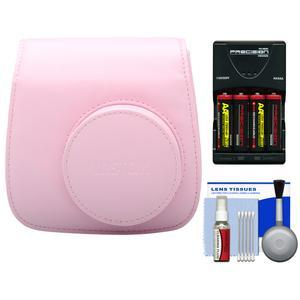 Fujifilm Groovy Camera Case for Instax Mini 8-Pink-with-4-Batteries and Charger and Accessory Kit
