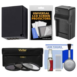 Essentials Bundle for Fuji X-A2 X-E2 X-E2S X-M1 X-T1 X-T10 with 16-50mm 18-55mm Lens with NP-W126 Battery & Charger + 3 UV/CPL/ND8 Filters + Accessory Kit