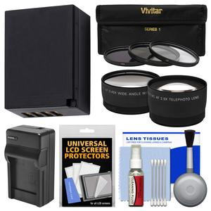Essentials Bundle for Fuji X-A3 A10 X-E2S X-T1 T2 T10 T20 with 16-50mm 18-55mm Lens with NP-W126 Battery and Charger + 3 Filters + Tele-Wide Lens Kit