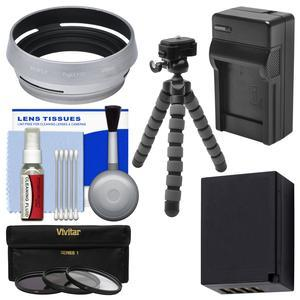 Essentials Bundle for Fuji X100F Digital Camera with Battery and Charger + Tripod + 3 UV-CPL-ND8 Filters + Kit