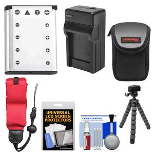 Essentials Bundle for Fujifilm Finepix XP70 XP80 XP90 XP120 with NP-45 Battery and Charger and Case and Flex Tripod and Floating Strap and Kit