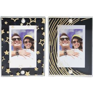 Fujifilm Instax Large Magnetic Frames - 2-Pack - Black and Gold Stars - Stripes -
