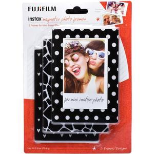 Fujifilm Instax Mini Magnetic Frames - 3-Pack - Black - White -