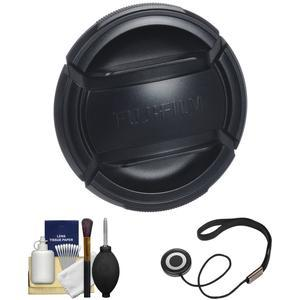 Fujifilm 62mm X Series Front Lens Cap with Cap Keeper + Cleaning Kit