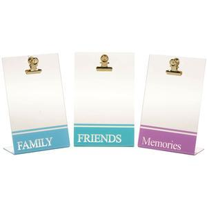 Fujifilm Instax Mini Clipboard Sentiment Frames - 3 Pack - Family-Memories-Friends -