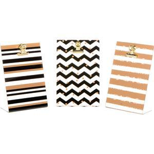 Fujifilm Instax Mini Clipboard Chevron Frames - 3 Pack - Black-Gold -