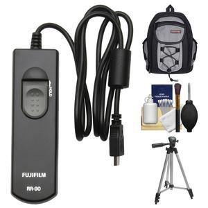 Fujifilm RR-90 Remote Shutter Release Controller with Case and Tripod and Kit