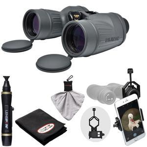 Fujifilm Fujinon Polaris 7x50 FMTR-SX Waterproof-Fogproof Binoculars with Smartphone Adapter and LensPen Cleaning Kit