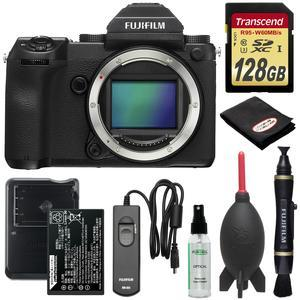 Fujifilm GFX 50S Medium Format Digital Camera Body with 128GB Card + Battery and Charger + Remote + Lenspen + Optical Cleaner + Blower + Kit