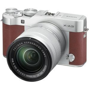 Fujifilm X-A3 Wi-Fi Digital Camera and 16-50mm II XC Lens - Brown -