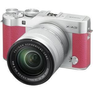 Fujifilm X-A3 Wi-Fi Digital Camera and 16-50mm II XC Lens - Pink -