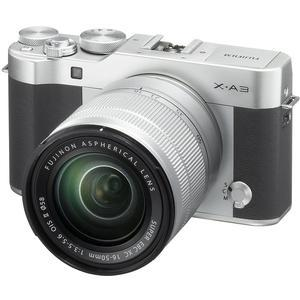 Fujifilm X-A3 Wi-Fi Digital Camera and 16-50mm II XC Lens - Silver -