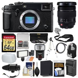 Fujifilm X-Pro2 Wi-Fi Digital Camera Body with 16-55mm f-2.8 Lens + 64GB Card + Backpack + Flash + Video Light + Mic + Battery + Kit
