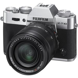 Fujifilm X-T10 Digital Camera & 18-55mm XF Lens (Silver)