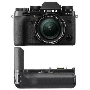Fujifilm X-T2 4K Wi-Fi Digital Camera and 18-55mm XF Lens with Fujifilm VPB-XT2 Vertical Power Booster Battery Grip