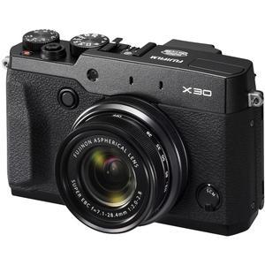 Fujifilm X30 Wi-Fi Digital Camera (Black) 12MP 4x Manual Zoom Lens Viewfinder 3.0 Tilting LCD Pop-Up Flash