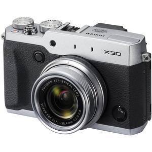 Fujifilm X30 Wi-Fi Digital Camera (Silver) 12MP 4x Manual Zoom Lens Viewfinder 3.0 Tilting LCD Pop-Up Flash