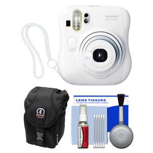 Fujifilm Instax Mini 25 Instant Film Camera (White) with Case + Kit