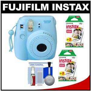 Fujifilm Instax Mini 8 Instant Film Camera-Blue-with 40 Instant Film and Cleaning Kit