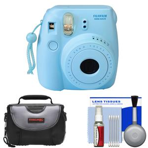 Fujifilm Instax Mini 8 Instant Film Camera-Blue-with Case and Cleaning Kit