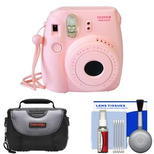 Fujifilm Instax Mini 8 Instant Film Camera-Pink-with Case and Cleaning Kit