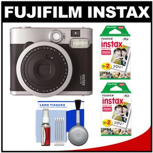 Fujifilm Instax Mini 90 Neo Classic Instant Film Camera with 40 Instant Film + Cleaning Kit
