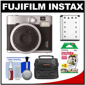 Fujifilm Instax Mini 90 Neo Classic Instant Film Camera with 20 Instant Film + Case + Battery + Cleaning Kit