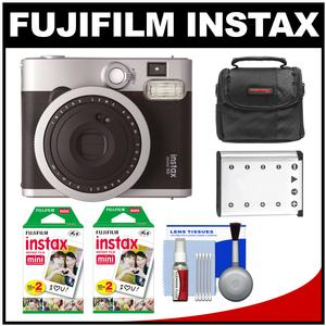 Fujifilm Instax Mini 90 Neo Classic Instant Film Camera with 40 Instant Film + Case + Battery + Cleaning Kit