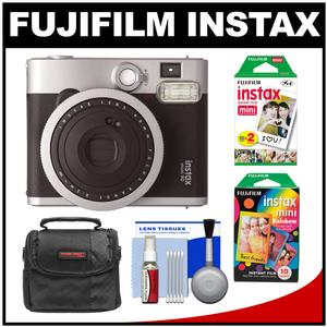 Fujifilm Instax Mini 90 Neo Classic Instant Film Camera with Instant and Rainbow Film Packs + Case + Kit
