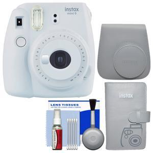 Fujifilm Instax Mini 9 Instant Film Camera - Smokey White - with Groovy Case + Photo Album + Kit