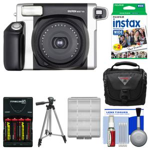Fujifilm Instax Wide 300 Instant Film Camera with 20 Wide Twin Prints + Case + Batteries and Charger + Tripod + Kit