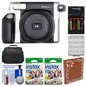 Fujifilm Instax Wide 300 Instant Film Camera with 40 Wide Twin Prints + Album + Case + Batteries and Charger + Kit